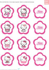 Diy Free Hello Kitty Cupcake Topper Justlovedesign Hello