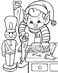 Christmas Elves Coloring Pages Within Cute Elf Unique Drawing At