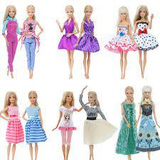 2 Cái/lốc Tay Búp Bê Cho Búp Bê Barbie Áo Hàng Ngày Sinh Đôi Bộ Trang Phục  Váy Hồng Xanh Dương Quần Áo Phụ Kiện Đồ Chơi Trẻ Em|Dolls Accessories