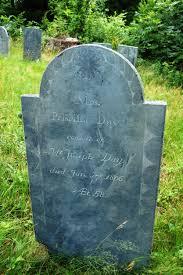 Bradford Burial Ground: Priscilla Day (1806) Wife of Joseph Day Map Site #  208