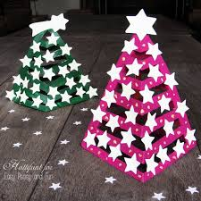 Glow In The Dark 3D Paper Christmas Tree - Easy Peasy and Fun