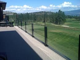 stylish glass deck railing