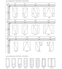aluminium entry frame sizes and entry doors