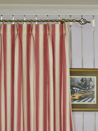 Moonbay Narrow-stripe Double Pinch Pleat Cotton Extra Long Curtain 108 -  120 Inch - Cheery Curtains