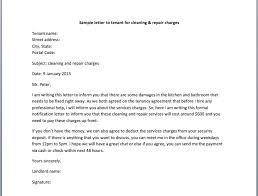 Notice To Tenant To Make Repairs Sample Letter To Tenant For Cleaning Repair Charges Smart Letters