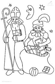 Kleurplaat Sinterklaas Zwarte Piet Sinterklaas En Zwarte Piet
