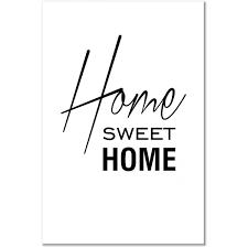 Leinwandbild Black and White: Home Sweet Home (1 Part) Vertical - Sprüche &  Zitate - Texturen & Hintergründe - Wandbilder