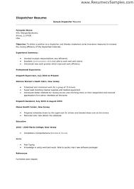 ... Dispatcher Resume 10 Dispatcher Resume Examples Printable ...