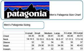 Patagonia Shorts Size Chart