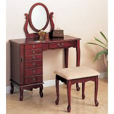 coaster fine furniture cherry makeup vanity