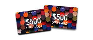 win 500 gift card to mac cosmetics