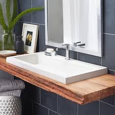 Ingenious Inspiration Ideas Stone Bathroom Sink Trough 3619 NativeStone  Rectangular Native Trails Sinks Clearance Uk Bowls Vessel