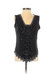 Details About Msk Women Black Sleeveless Blouse Sm Petite