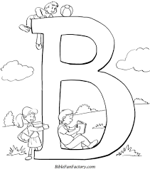 Small Picture Bible Coloring Sheet B is for Bible Bible Lessons Games and