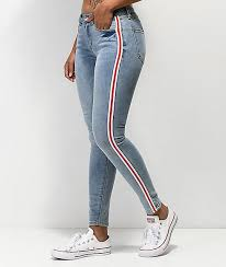 Almost Famous Jeans Size Chart Almost Famous Side Stripe Light Wash Jeggings In 2019