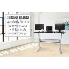 full size desk simple stand. Tranzendesk Standing Desk - 55 Inch Full Size (Black/silver Manual) Stand Steady Simple