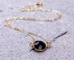 black onyx necklace onyx necklace black stone necklace bridesmaid necklace onyx pendant