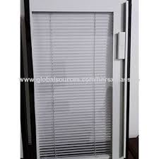 china insulated glass with blinds inside window shutter with insulated glass