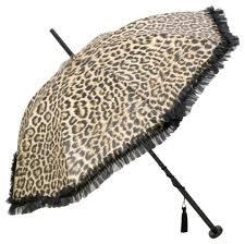 Ladies Designer Umbrella Guy De Jean Designer Ladies Umbrella With Leopard Print And