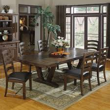 castlegate wood rectangular dining table in distressed um brown