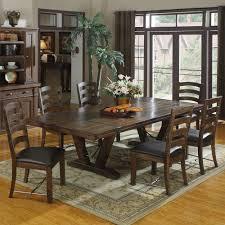 castlegate wood rectangular dining table in distressed medium brown