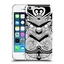 Head Case Silikonový Obal Na Mobil Apple Iphone 55s Vzor Maorské Tetování Motivy černá A Bílá Válečník
