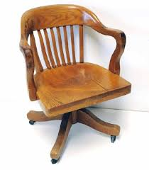 image of antique wood desk chair