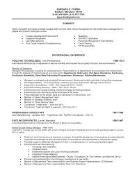 Cover Letter Electronic Assembly Job Description Electronic Assembly