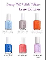Essie Nail Polish Colors Chart