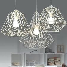 modern minimalist black white silver gold wrought iron cage pendant light chandelier living room lamp green
