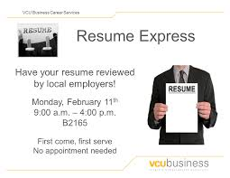 Hard Copy Of Resume Resume Workshop And Resume Express School Of Business 12