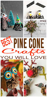 fun pinecone crafts creative pine cone craft ideas decorations fall