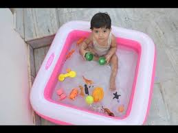 intex outdoor inflatable bath swimming pool tub for kids review and unboxing
