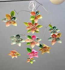 Paper Flower Mobiles Origami Flower Mobile 2 By Blissfulgarden On Etsy Origami