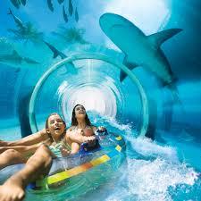 waterpark waterslides serpentslide underwater water slide atlantis t43 underwater