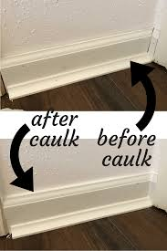 how to install baseboards in your home and a look at the difference caulk can