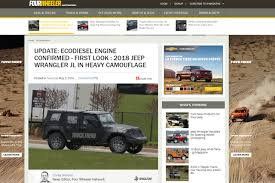 2018 jeep ecodiesel. exellent jeep jp magazine u2013 update ecodiesel engine confirmed first look  2018 jeep  wrangler jl in heavy camouflage to jeep ecodiesel