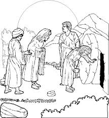 Easter Coloring Page For Children Picture Of The Empty Tomb