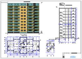 Курсовой по архитектуре Односекционный ти этажный квартирный  Курсовой по архитектуре Односекционный 9 ти этажный 54 квартирный дом