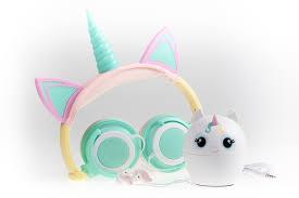 Unicorn Light Up Headphones Unicorn 3 Piece Audio Gift Set Light Up Headphone Bluetooth Speaker Earbuds