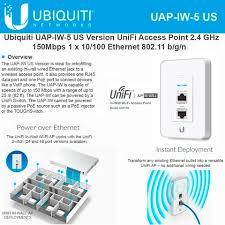 ubiquiti networks unifi in wall wireless access point 2 4ghz uap iw ubiquiti networks unifi in wall wireless access point 2 4ghz uap iw 5 us 802 11n poe 3x 10 100 ethernet ports