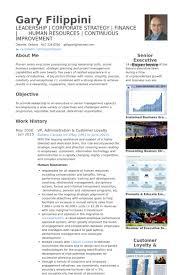 Administration CV Examples and Live CV Samples VP, Administration & Customer Loyalty - Gary Filippini