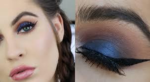wearable royal blue eyes makeup tutorial