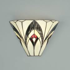 art deco style wall lights uk. odeon wall lamp lamp, classical art deco lines in contrasting red, black and yellow american glass. h: 210 w: 300 d: 120 bulbs: 1 x 40 style lights uk