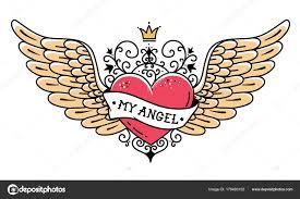 татуировка сердце с короной и кованые орнамент татуировка сердце с