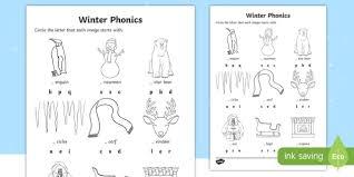 See more ideas about kindergarten worksheets, kindergarten, worksheets. Winter Word Phonics Worksheet Worksheet Teacher Made