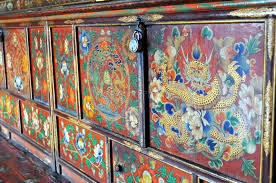 colorful painted furniture. Fine Painted Download Colorful Painted Furniture From Buddhist Monastery Stock Photo   Image Of Eyes Dharma Throughout P