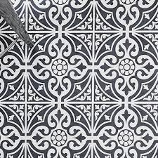 kingsbridge black patterned tiles why do patterned tiles work so well in the bathroom
