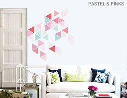 large geometric triangle vinyl wall