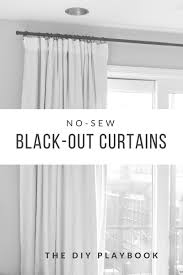 how to make no sew blackout curtains for your bedroom such an easy and